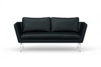 Vitra Suita Sofa 2-Seater Leder nero