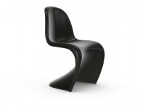 Vitra Panton Chair tiefschwarz (neue Höhe) Freischwinger-Stuhl