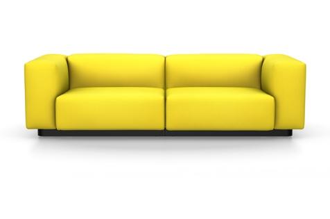 Vitra Soft Modular Sofa Zweisitzer Stoff Iroko 2 limone