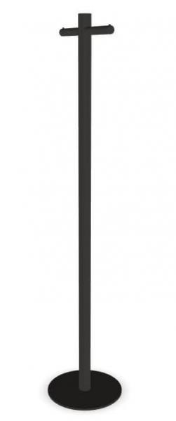 Cascando Pole Garderobenst?nder Stahl, pulverbeschichtet basalt