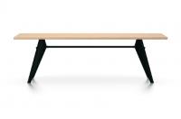 Vitra Prouve EM Table Esstisch Furnier Eiche natur 240 cm natur/tiefschwarz