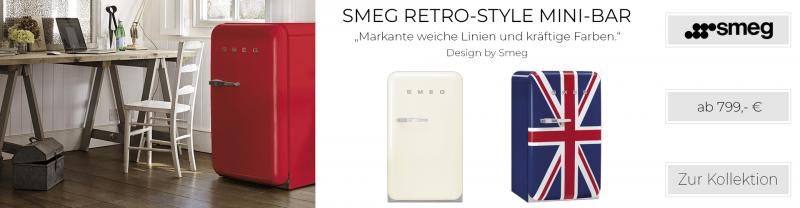 SMEG Retro-Style Mini-Bar 50er Jahre cremé FAB10RP / FAB10LP