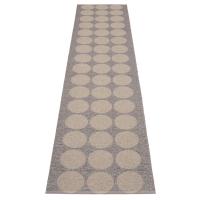 Pappelina Hugo Mud metallic 70x320 Teppich & Badvorleger schlamm