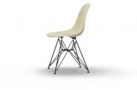 Vitra Eames Fiberglass Side Chair DSR parchment UG: basic dark