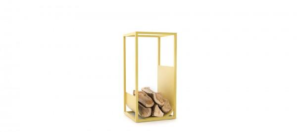 CONMOTO CUBE Brennholzregal Stahl gelb