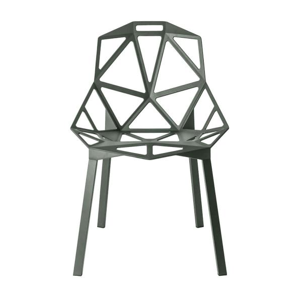 Magis Design Chair One Aluminium-Stapelstuhl graugrün