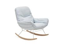 Freifrau Manufaktur Leyasol Rocking Loungechair Stoff Lopi Glacier