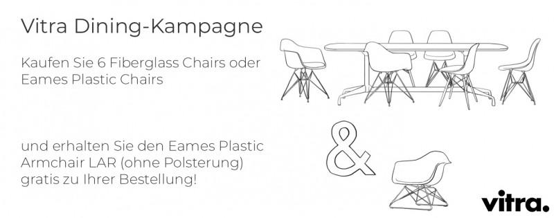 Vitra Dining Kampagne 6 Fiberglass Chairs oder Plastic Chairs kaufen - 1 LAR geschenkt