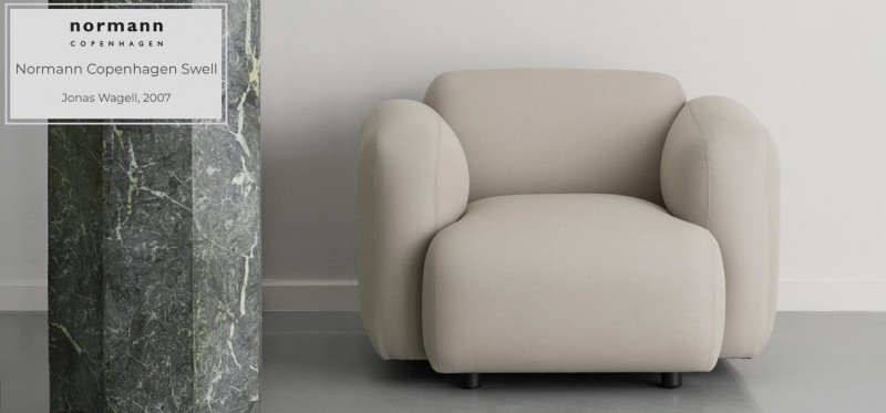 Normann Copenhagen Swell Loungesessel Lesessel skandinavischer Stil