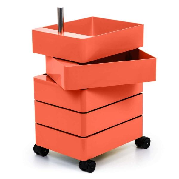 Magis Design 360° Rollcontainer 5 Fächer pink