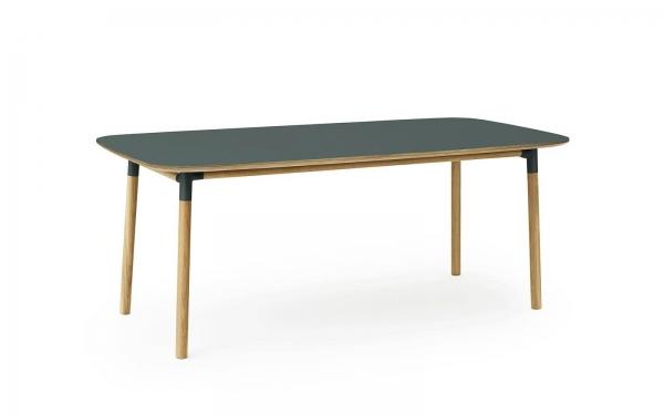 Normann Copenhagen Form Esstisch 200 x 95 cm UG: Eiche, natur / TP: Laminat, gelb