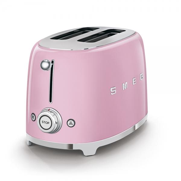 SMEG Retro-Style 2-Scheiben-Toaster cadillac pink TSF01PKEU