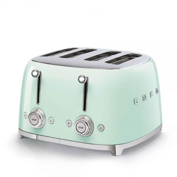 SMEG Retro-Style 4-Scheiben-Toaster TSF03PGEU pastellgruen