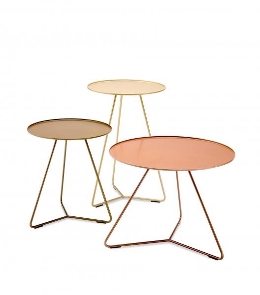 Möller Design Steely Beistelltisch Ø 40 cm & H 60 cm Pulverlack, glänzend
