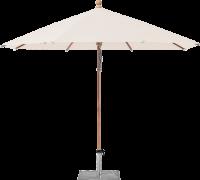 Glatz AG Sonnenschirm PIAZZINO Ø 300 cm - 350 cm, 40 kg Stahlsockel, Standrohr Stahl verzinkt