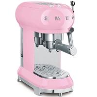 SMEG Retro-Style Espresso-Kaffeemaschine cadillac pink ECF01PKEU