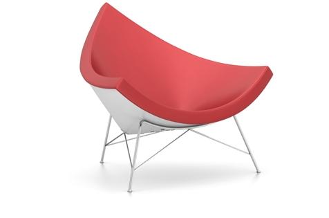 Vitra Coconut Chair Sessel Leder rot