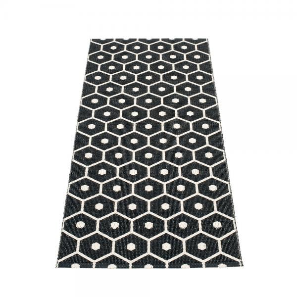 Pappelina Hony Black 70x160 Teppich & Badvorleger schwarz