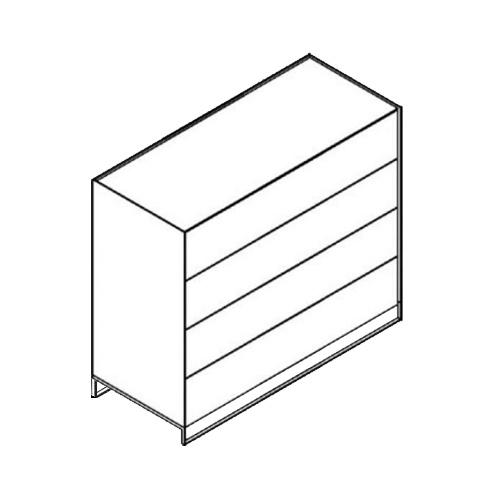 Möller Design LEAN BOX K1204S Kommode mit 4 Schubkästen Lack matt