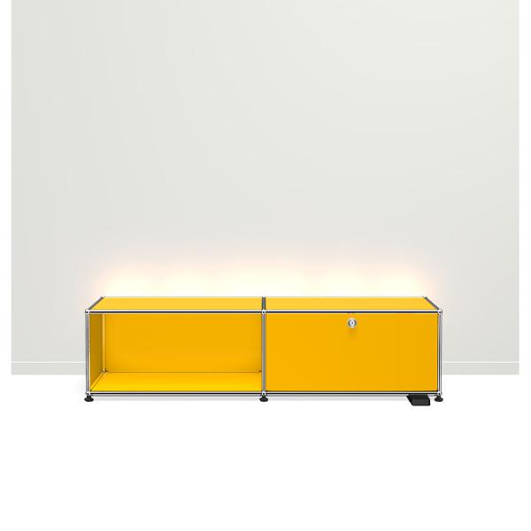 USM Haller E TV/Hi-Fi-M?bel mit dimmbarem Licht gelb