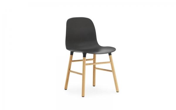 Normann Copenhagen Form Stuhl Wood Sitzschale schwarz / UG Eiche