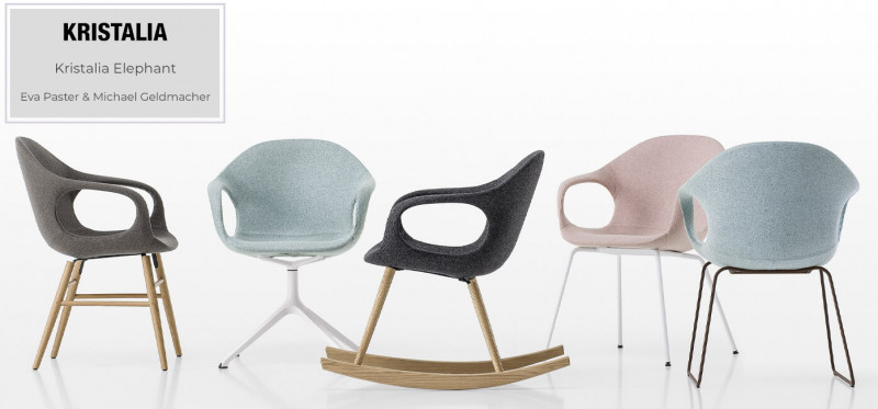 Kristalia Elephant Esszimmerstuhl Kollektion modernes skaninavisches Design