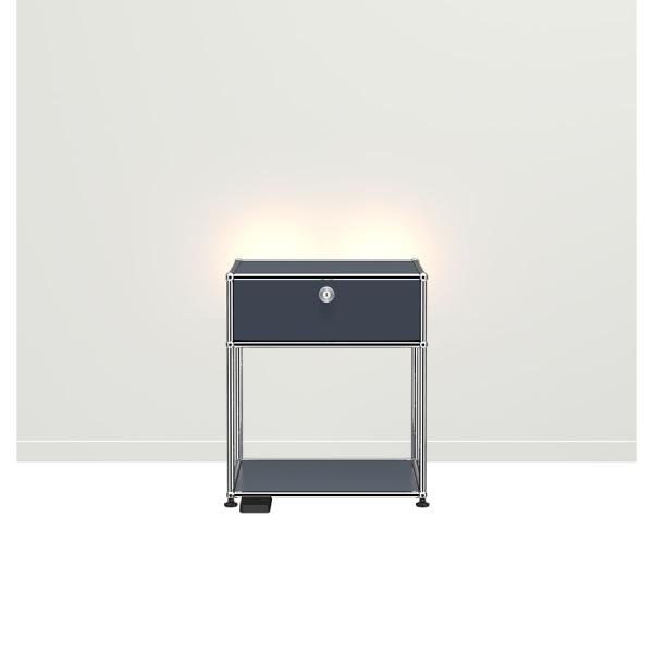 USM Haller E Nachttisch mit dimmbarem Licht anthrazit