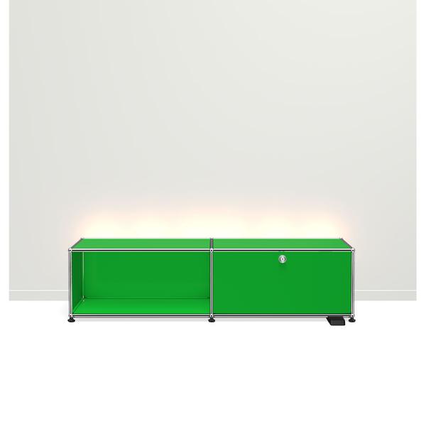 USM Haller E TV/Hi-Fi-M?bel mit dimmbarem Licht USM gr?n