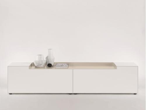 Piure NEX BOX TV/HiFi-Möbel 240 x 48 x 53 weiss matt