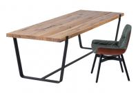 JANUA Möbel Tisch BB 11 Clamp Eiche Altholz natur geoelt UG: tiefschwarz