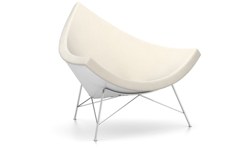 Vitra Coconut Chair Sessel Hopsak (Stoff) warmgrey/elfenbein