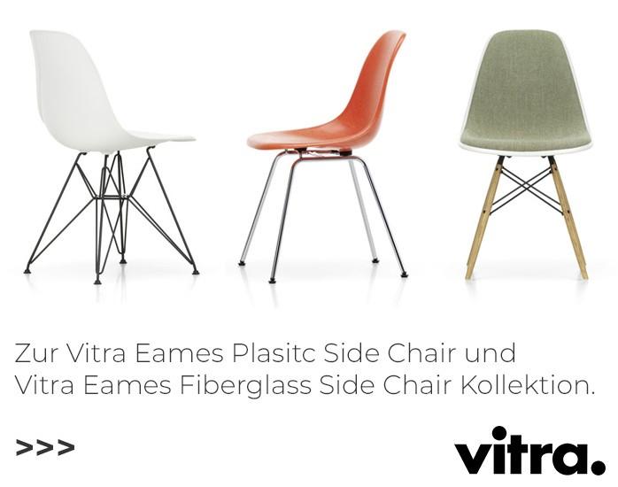 Vitra Eames Plastic Side Chairs und Eames Fiberglass Side Chairs