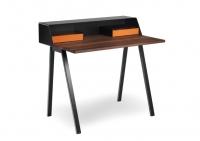 Mueller Moebelfabrikation PS05 Schreibtisch  Sekretaer mit Schubladenbox und Elektrobox Nussbaum massiv