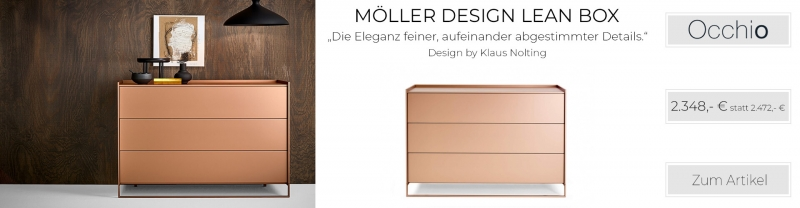 Möller Design LEAN BOX K1203S Kommode mit 3 Schubkästen Lack matt