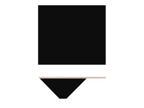 Nils Holger Moormann Bildschirmplatte für Kant Schreibtisch schwarz