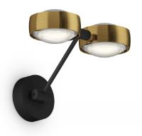 Occhio Sento D LED Parete Doppio Up 20 cm Wandleuchte schwarz matt & bronze