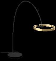 Occhio Mito Largo 60 Wide Air Steuerung Bogenleuchte schwarz matt bronze