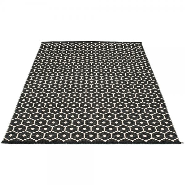 Pappelina Hony Black 180x260 Teppich & Badvorleger schwarz