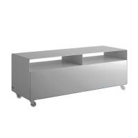 Mueller Moebelfabrikation R109N Mobile Line Sideboard  TV-Hifi-Moebel auf Rollen B 120 cm wei?aluminium