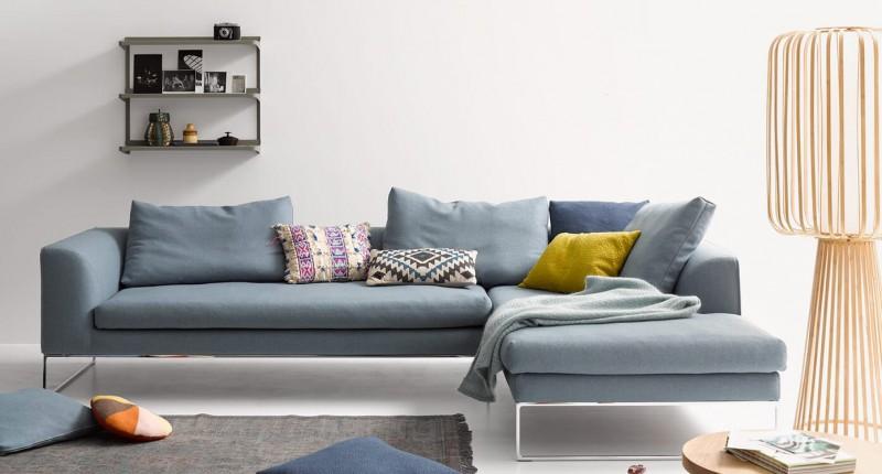 COR Mell Lounge Stoffsofa Sitz- und Liegekombination