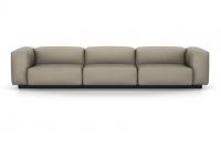 Vitra Soft Modular Sofa Dreisitzer Leder sand