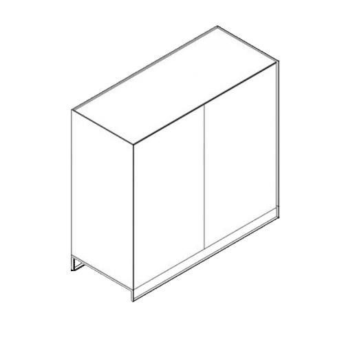 Möller Design LEAN BOX K1201ET100 Kommode mit 2 Türen & 2 Fachböden Lack matt