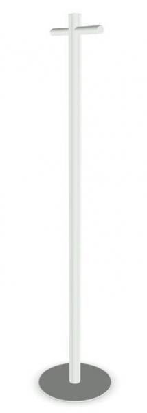 Cascando Pole Garderobenst?nder Stahl, pulverbeschichtet weiss
