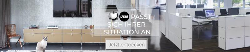 USM Haller Möbelbausystem Metallmöbel passt sich Ihrer Situation an
