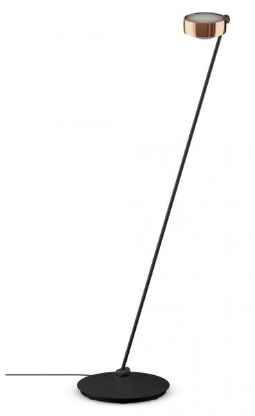 Occhio Sento E LED Lettura 125 Fuß rechts o. links schwarz matt & rose gold