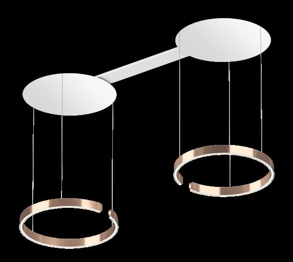 Occhio Mito Sospeso Due 60 Up Variable Air-Steuerung rose gold
