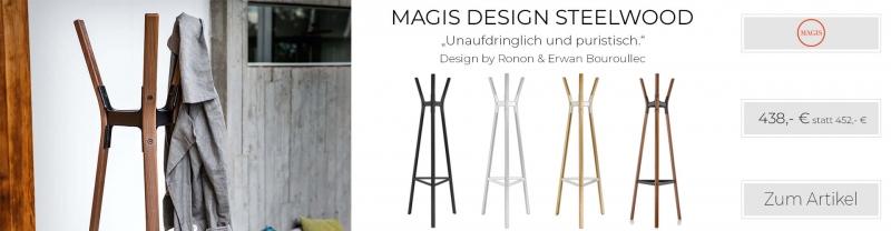 Magis Design Steelwood Coat Stand Garderobenständer Buche natur
