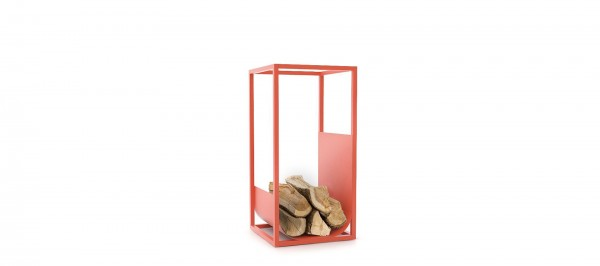 CONMOTO CUBE Brennholzregal Stahl rot