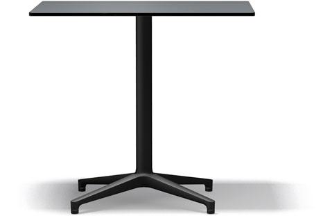 Vitra Bistro Table indoor und outdoor geeignet 80 x 64 x 72 cm pastellgrau/schwarz