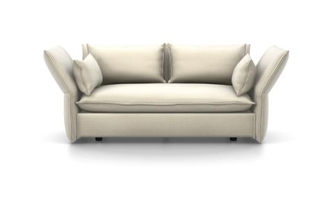 Vitra Mariposa Sofa Zweisitzer Stoff Iroko 2 creme